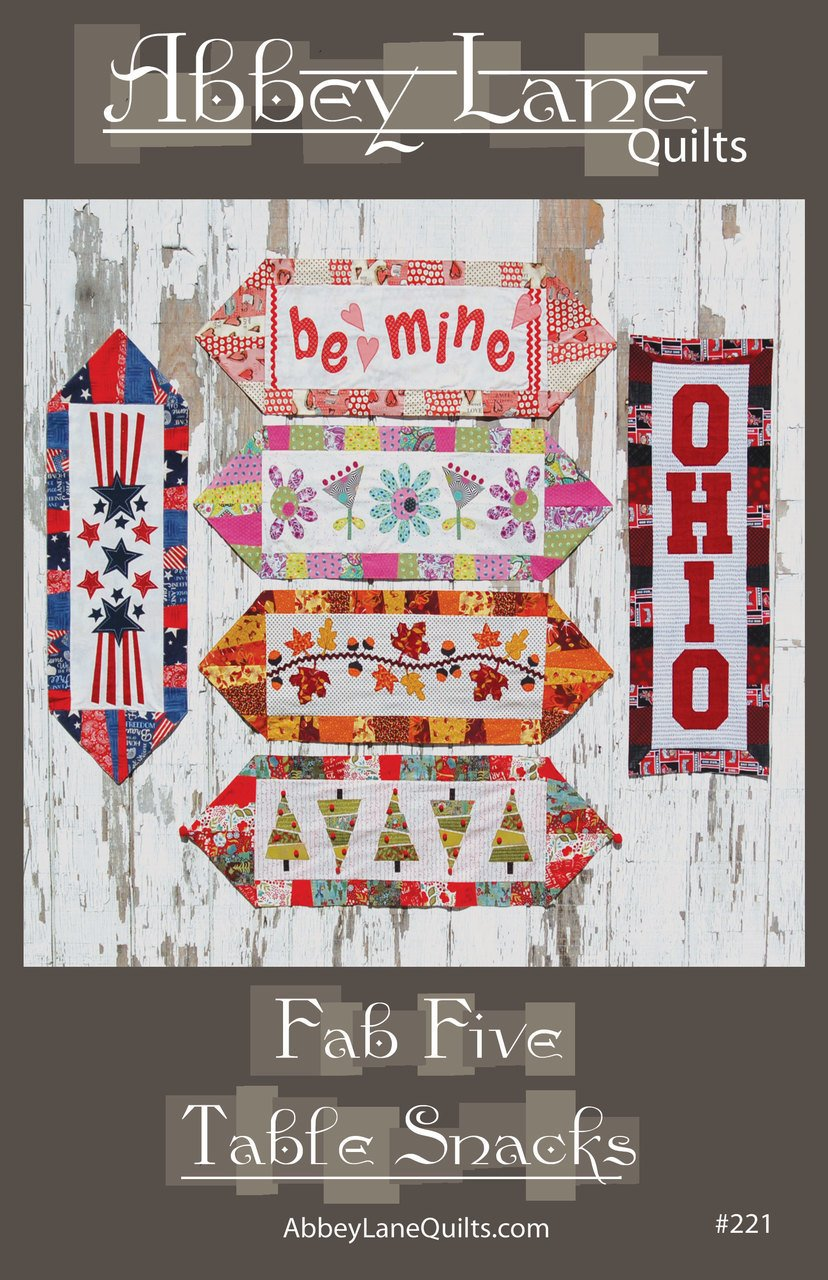 Fab Five Table Snacks By Abbey Lane Quilts