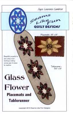 Glass Flower Placemats and Tablerunner   Joyce Lawrence Cambron