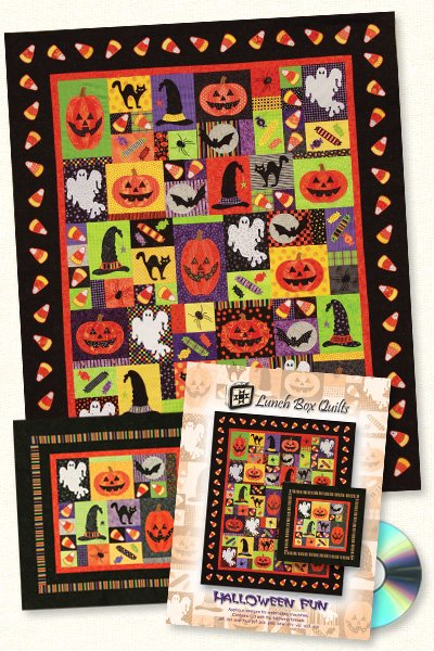 Halloween Fun Quilt <br> Lunch Box Quilts