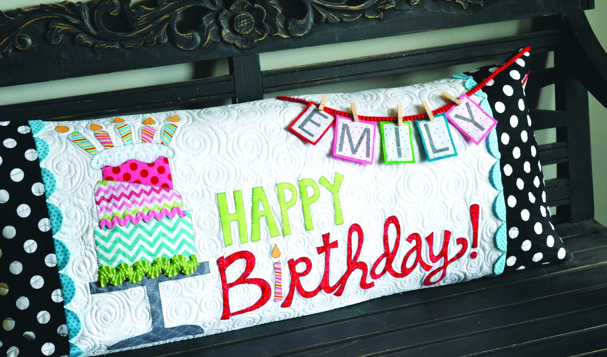 Happy Birthday Bench Pillow (CD)