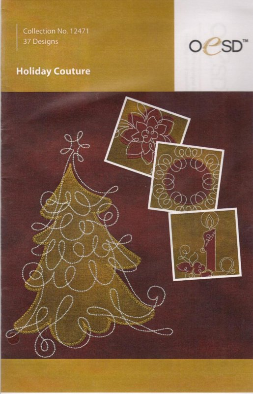 Holiday Couture Embroidery CD