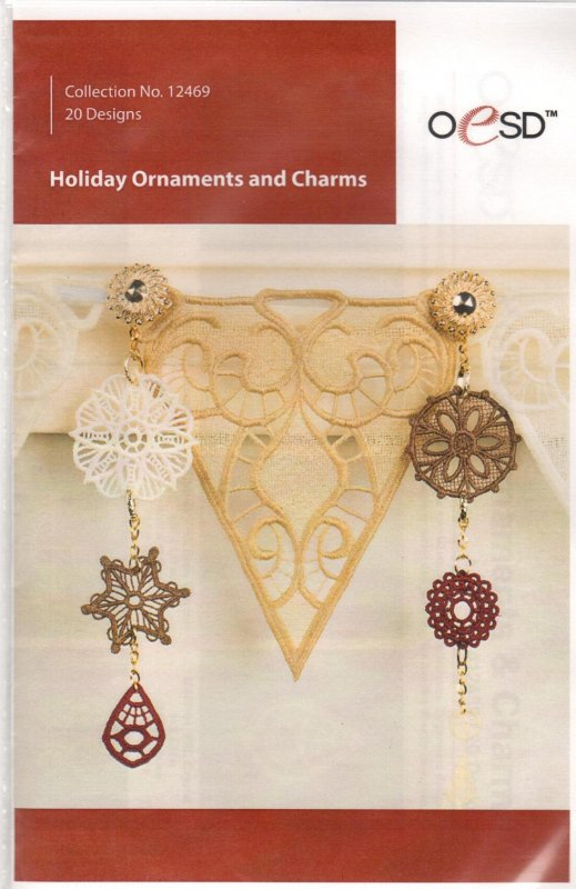 Holiday Ornaments and Charms Embroidery CD