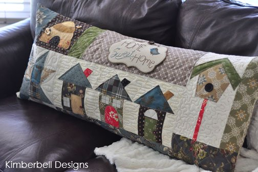 Home Sweet Home Bench Pillow (CD) By Kimberbell