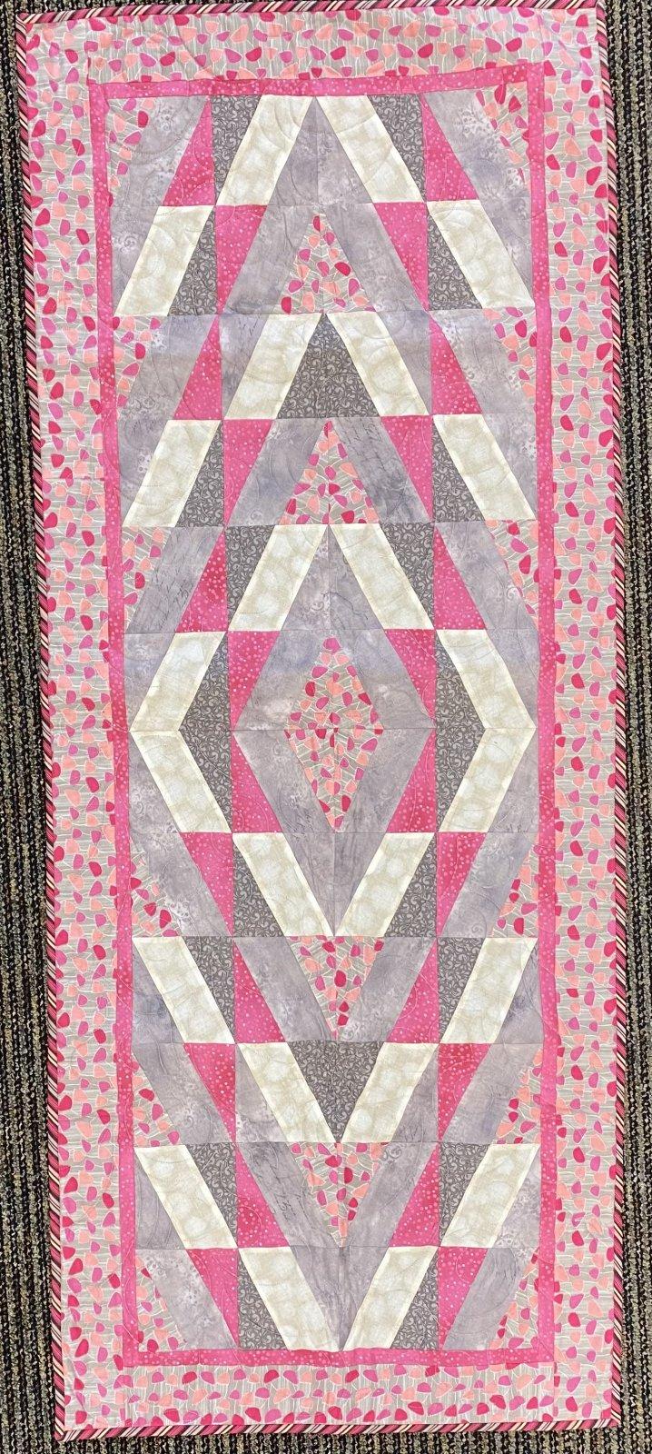 Symmetry Table Runner (pink & gray)