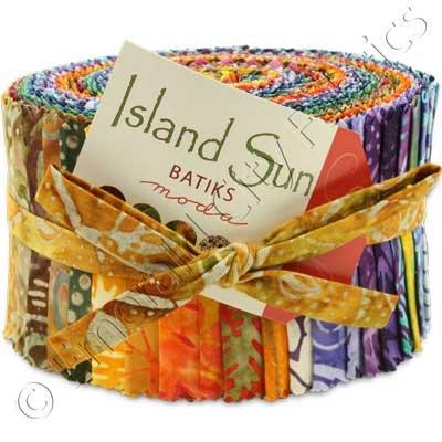 Island Sun  Batiks Jelly Roll <br> By Moda
