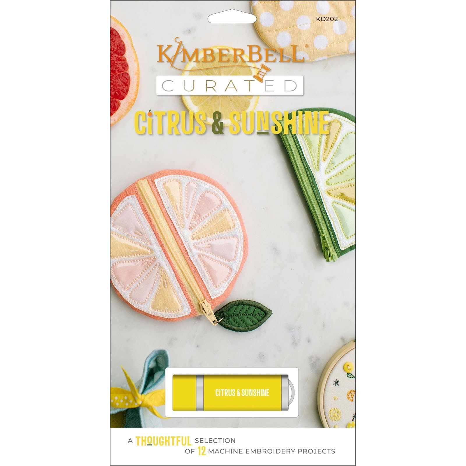 Citrus & Sunshine Kimberbell Curated Embroidery USB
