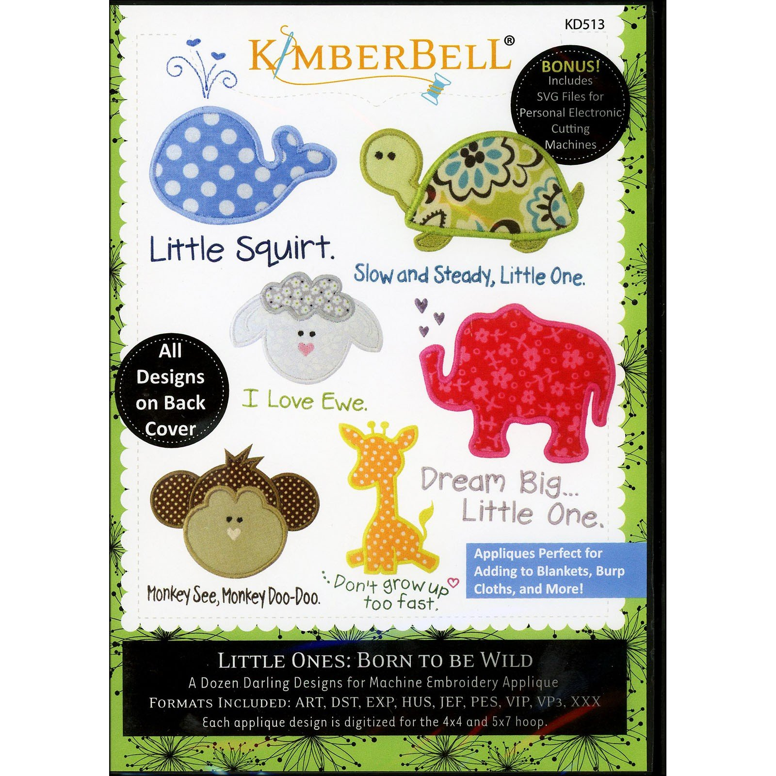 Little Ones: Born to be Wild (Embroidery CD) by Kimberbell