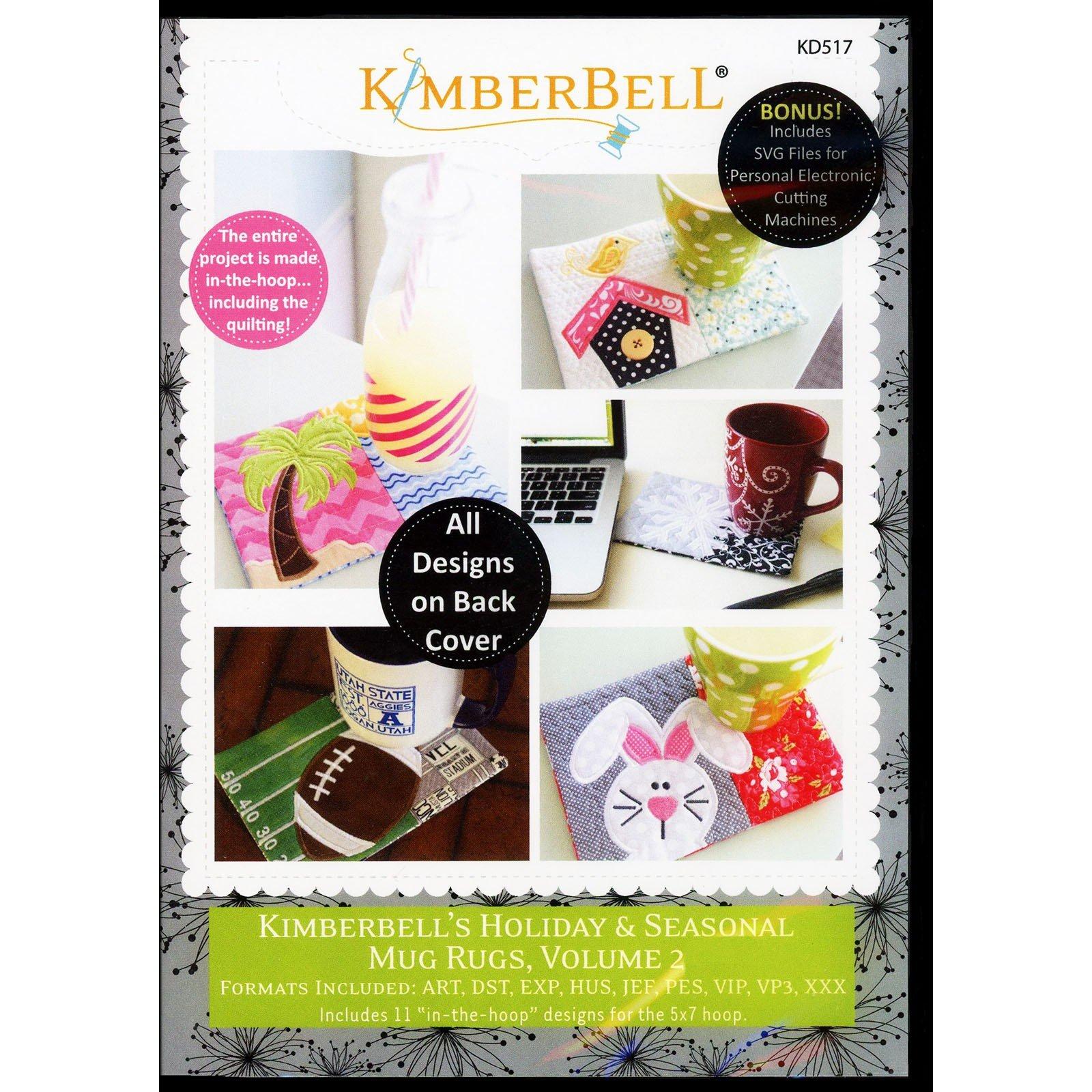 Holiday Mug Rugs Vol. 2 Kimberbell Embroidery CD