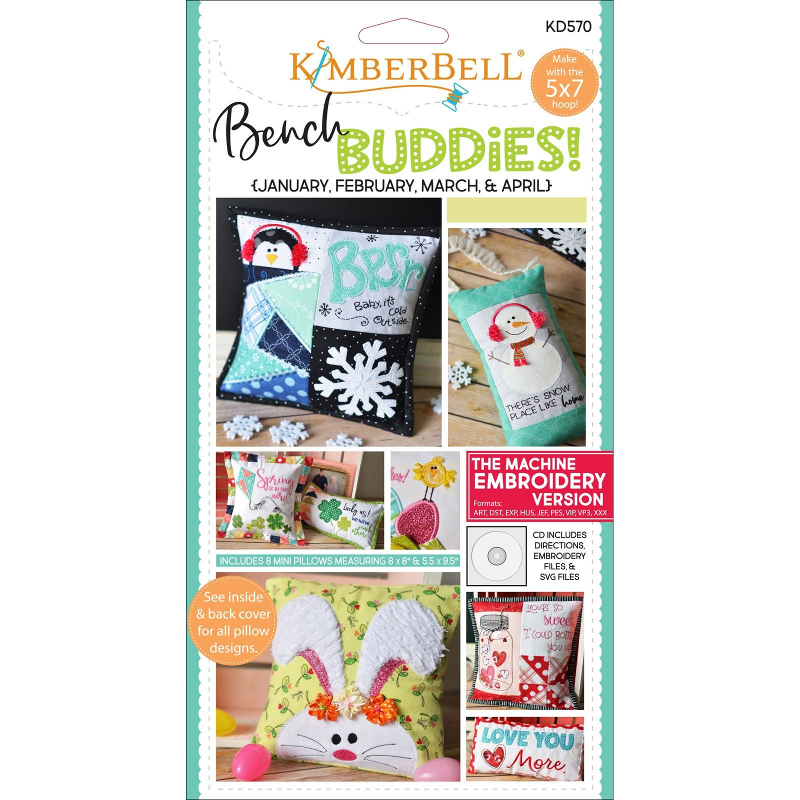 Bench Buddies: January ~ April (Embroidery CD) by Kimberbell