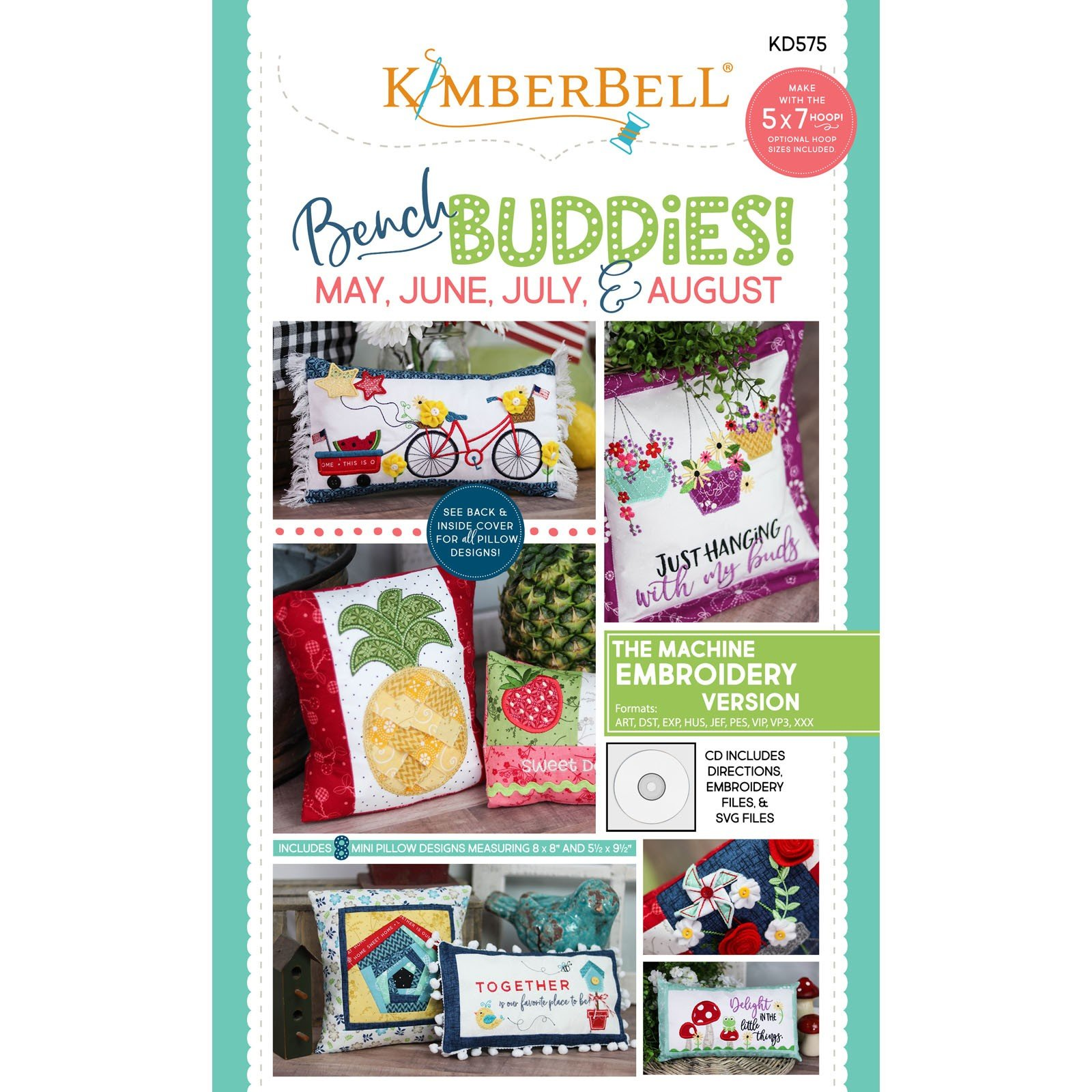 Bench Budies: May ~ August (Embroidery CD) by Kimberbell
