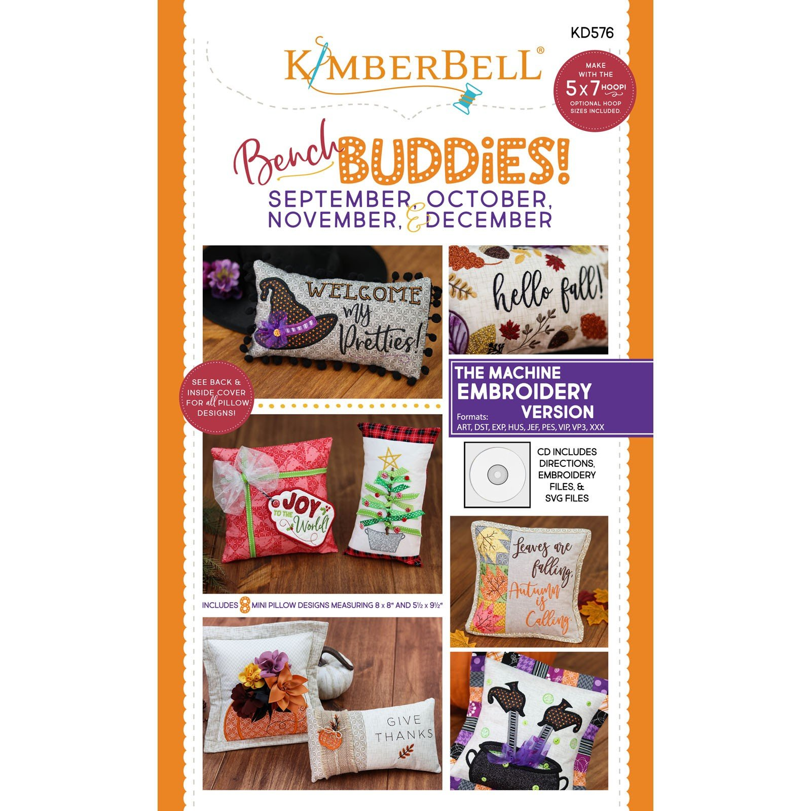 Bench Buddies: September ~ December (Embroidery CD) by Kimberbell