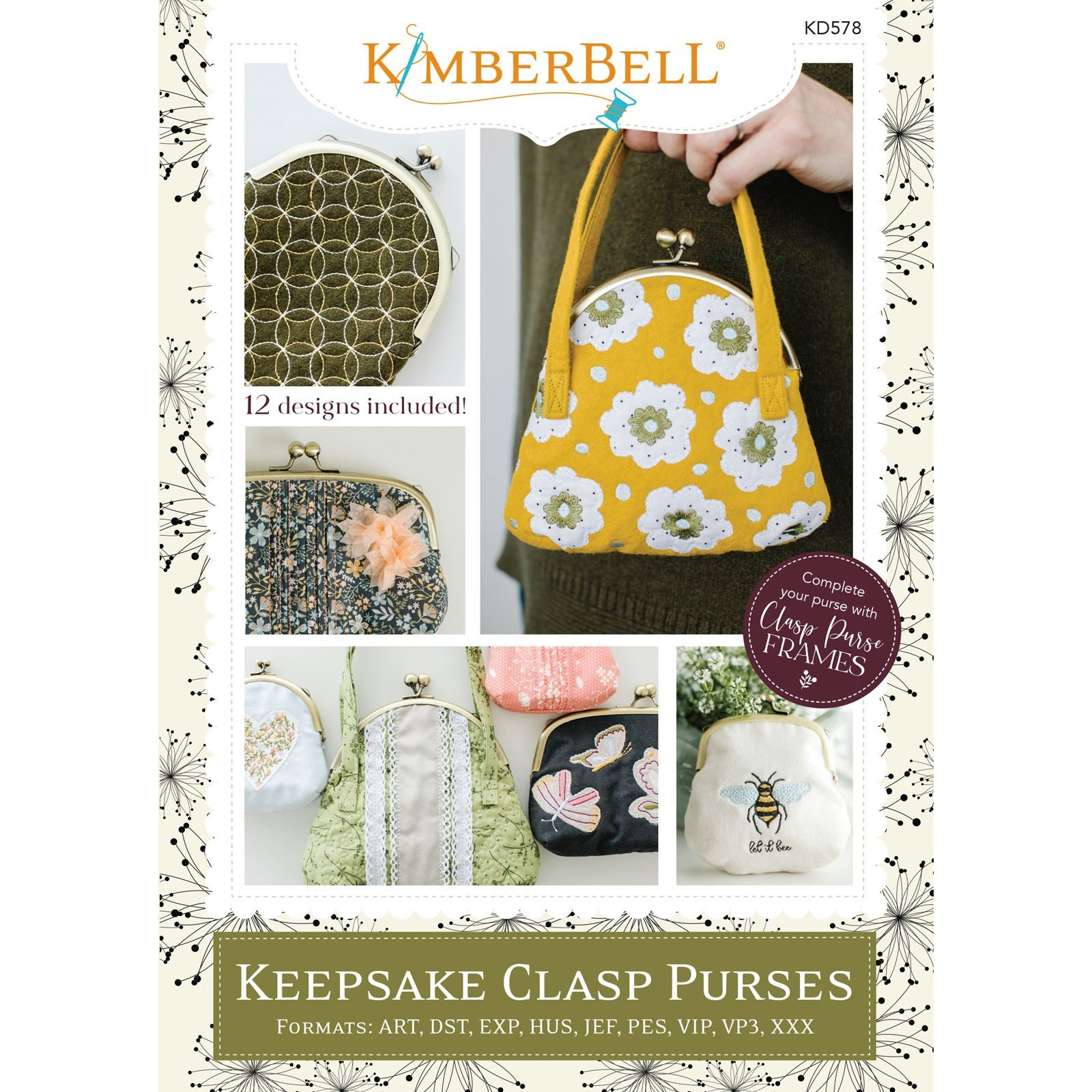 Keepsake Clasp Purses (Embroidery CD) by Kimberbell