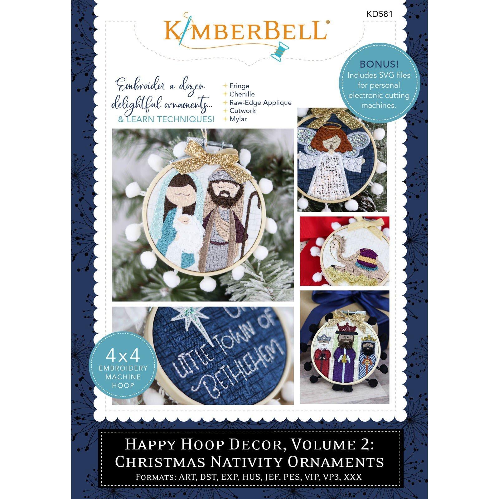 Happy Hoop Decor, Vol. 2: Christmas Nativity Ornaments (Embroidery CD) by Kimberbell