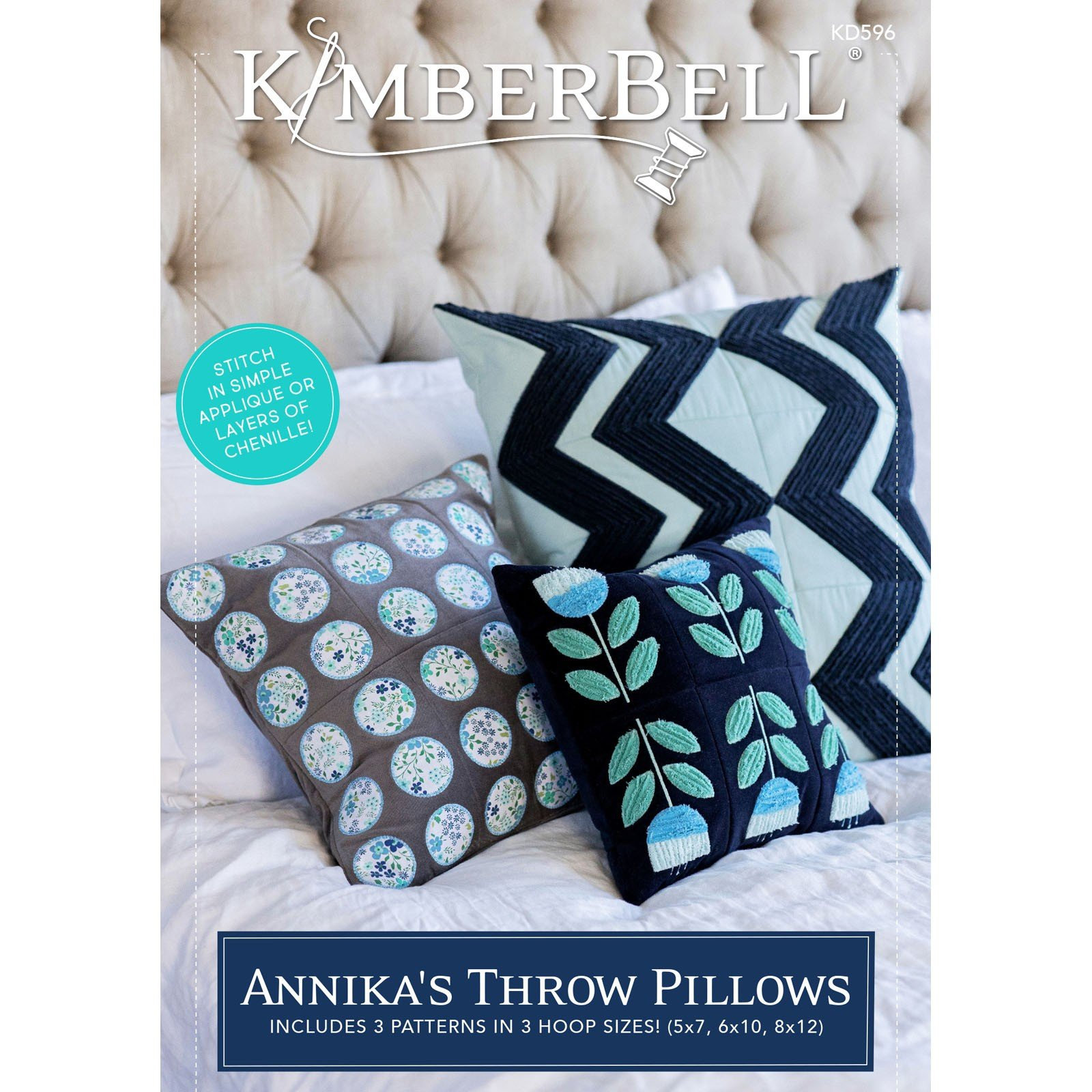 Annika's Throw Pillows (Embroidery CD) by Kimberbell