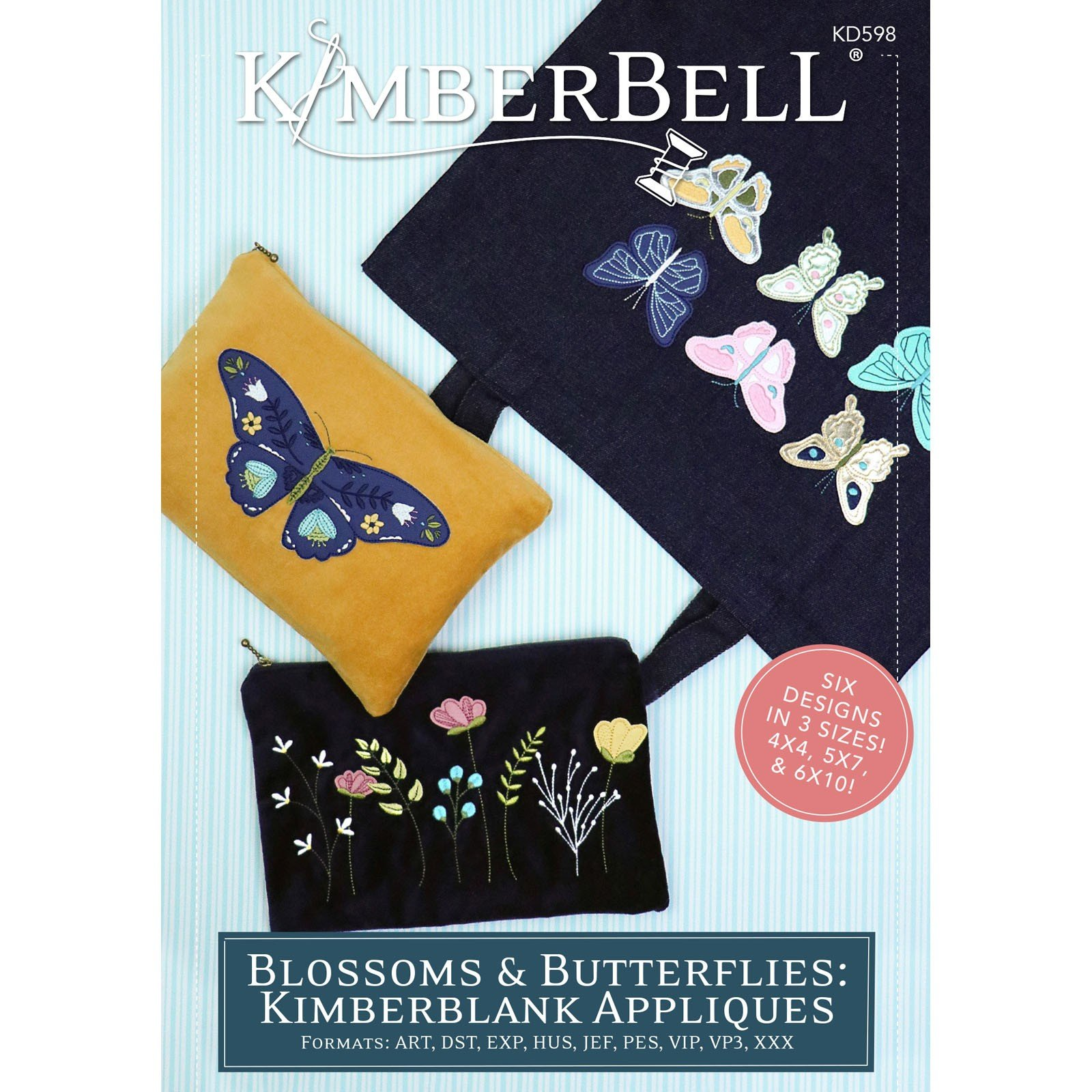 Blossoms & Butterflies: Kimberblank Appliques (Embroidery CD) by Kimberbell