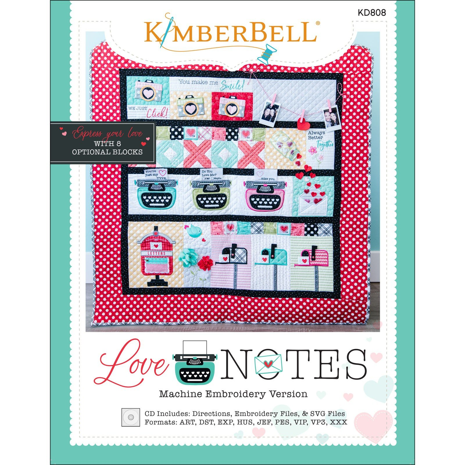 Love Notes Quilt (Embroidery CD) by Kimberbell