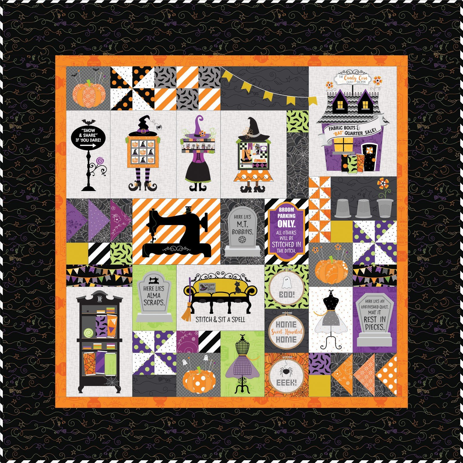 Candy Corn Quilt Shoppe (Embroidery CD) by Kimberbell