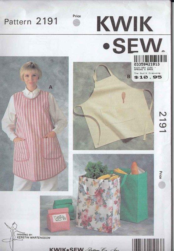 Kwik Sew Pattern 2191 Quick aprons