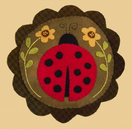 Lady Bug's Garden Pincushion <br> By Waltzing With Bears