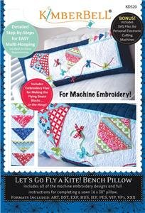 Let's Go Fly A Kite Bench Pillow (CD) By Kimberbell