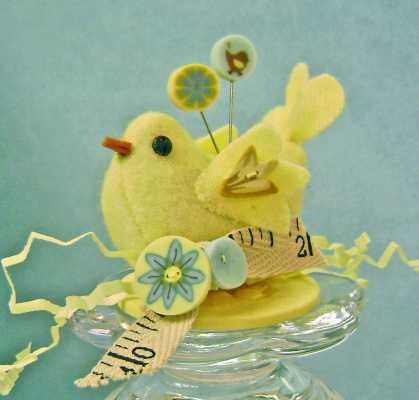 Little Birdie Pincushion Kit   by Just Another Button Company