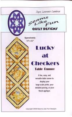 Lucky At Checkers Table Runner   By Joyce Lawrence Cambron