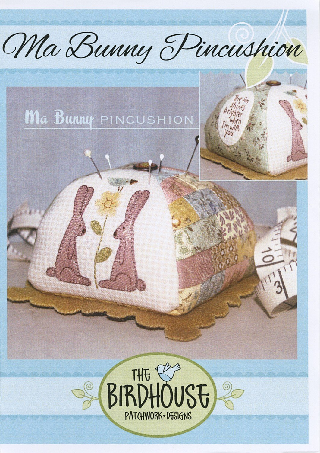 Ma Bunny Pincushion By The Birdhouse