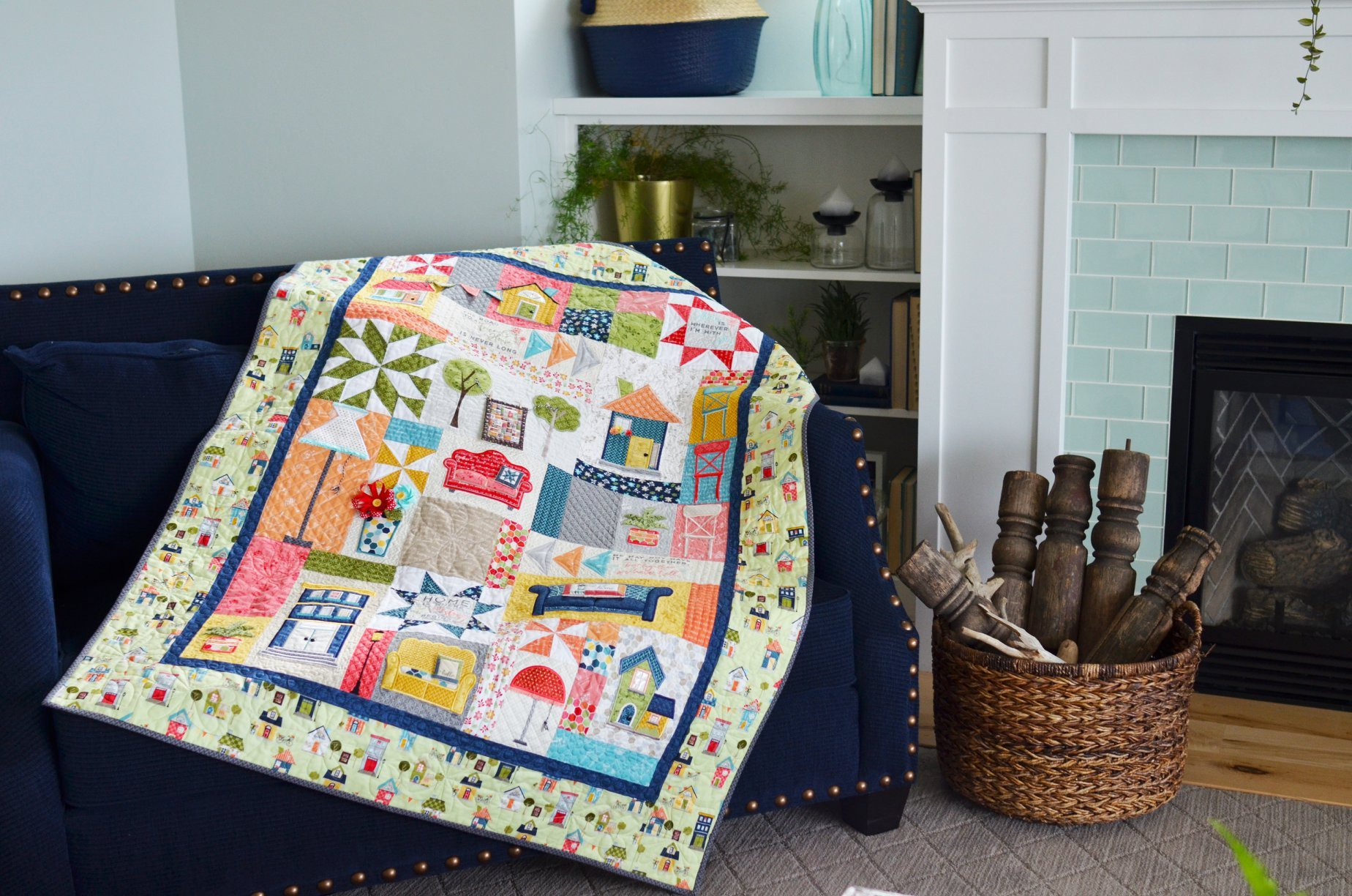 Make Yourself At Home <br>Quilt Kit Embroidery Version