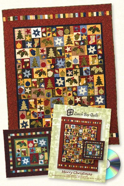 Merry Christmas Quilt <br> By Lunch Box Quilts