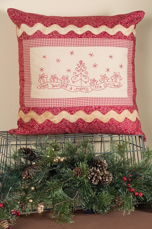 Merry Little Christmas Pillow <br> By Waltzing With Bears