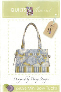 Mini Bow Tucks Tote Bag   by Quilts Illustrated