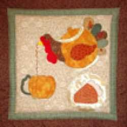 Mini Tea Pot Quilt Hanging   November