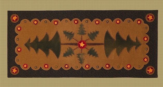 Mountain Pine Table Runner <br> By Waltzing With Bears