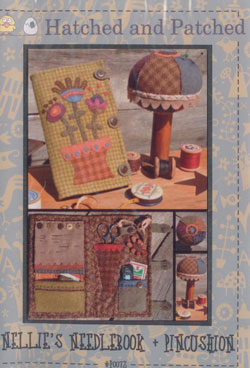 Nellies Needlebook & Pincushion   Hatched & Patched
