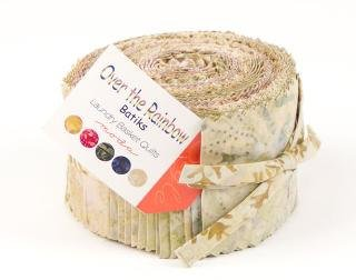 Over The Rainbow Neutrals Batiks Jelly Roll <br> By Moda