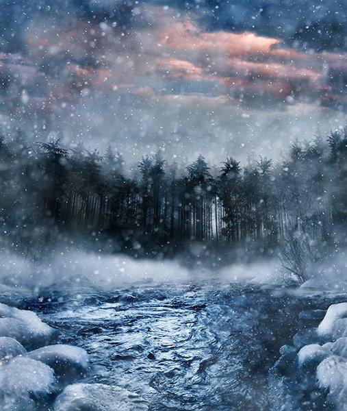 Call of the Wild  P4357-147-Storm  (Winter Scene)