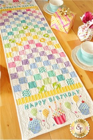 Patchwork Birthday Table Runner by Shappy Fabrics