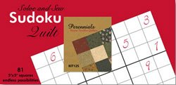 Perennials Sudoku Kit from Modu   Kansas Troubles Fabric