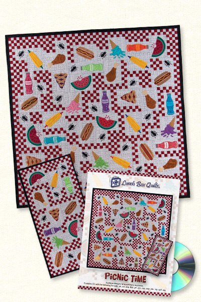 Picnic Time Quilt <br> By Lunch Box Quilts