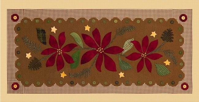 Poinsettia Table Runner <br> By Waltzing With Bears