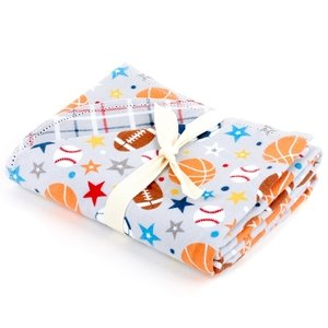 Hemstitched Blanket - Riley Blake Designs <br> Play Ball