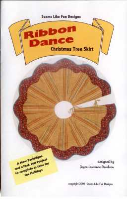 Ribbon Dance Christmas Tree Skirt   by Seams Like Fun Designs