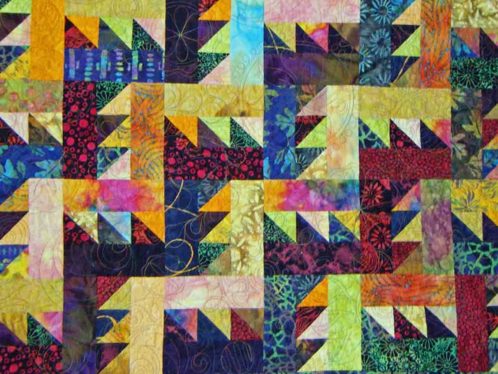 Sawtooth Rail Fence Quilt Kit (Junior)