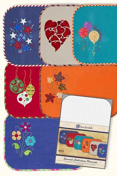 Seasonal Celebrations Placemats <br> By Lunch Box Quilts