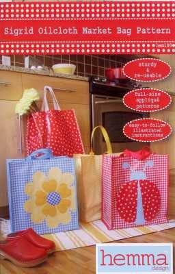 Sigrid Oilcloth Market Bag   Hemma Design