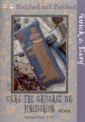 Snag The Sausage Dog Pincushion Kit   Hatched and Patched