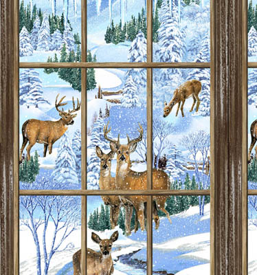 Snowy Christmas (61461-2GL) Panel