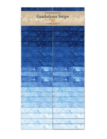 Stonehenge Gradations  Strips - Indigo