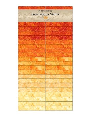 Stonehenge Gradations  Strips - Sunglow