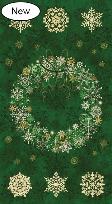 Starry Night 2 Christmas  Wreath Panel (20341M-79)